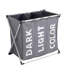 Большая корзина для хранения белья с ручкой крышки грязной одежды корзина для хранения водонепроницаемый ткань Оксфорд три сетки сортировщик корзина для белья