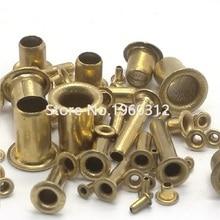 100-500 шт. M0.9 M1.3 M1.5 M1.7 M2 M2.5 M3 m4 m5 m6 трубчатые заклепки двусторонняя печатная плата PCB Nails медная полая заклепка гайки