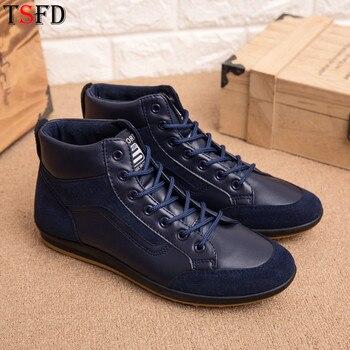 Zapatillas ultraligeras de cuero para hombre, zapatillas transpirables para hombre, venta popular de primavera, tallas grandes 46, zapatos azules de alta calidad Y6