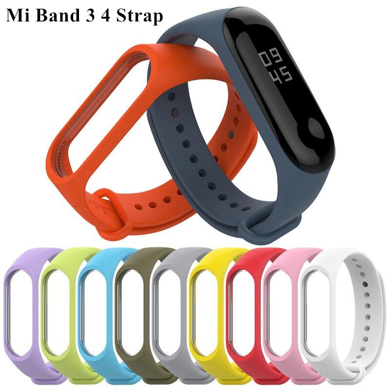 Mi Band 3 4 Strap Bracelet Silicone Wristband Bracelet Miband 3 Strap Smart Mi Band3 Wrist Strap For Xiaomi Mi Band 3 4 Strap