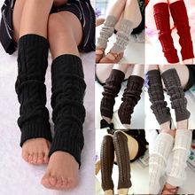1 пара зима теплые штанины теплые женские колено высокие трикотажные однотонные вязаные крючком штанины гетры носки сапоги манжеты теплые теплые носки носки