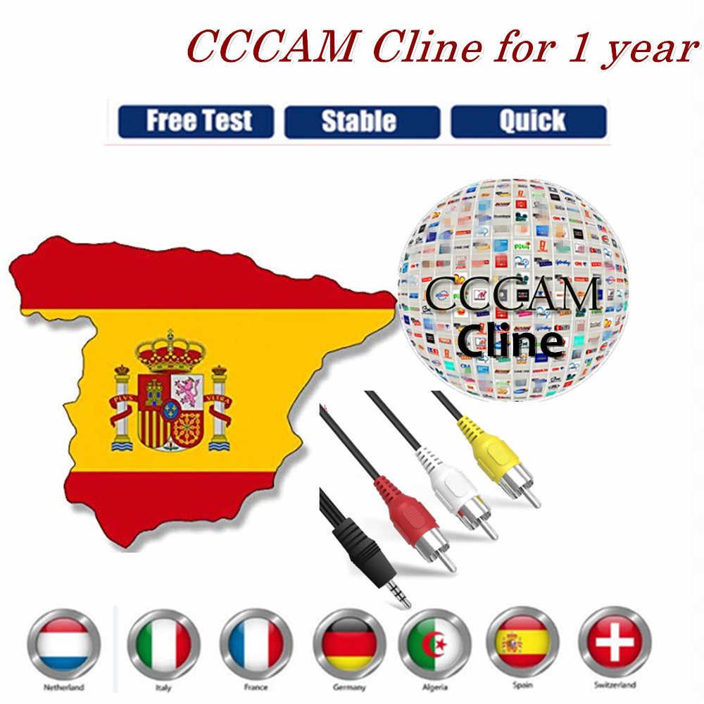 Stabilny Cccam Cline hiszpania na 1 rok serwer portugalia niemcy Polsat europa cline na DVB-S2 HD odbiornik satelitarny GTmedia V8 Nova