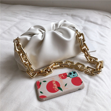 Summer Thick Chain Ruched Shoulder Bags For Women Soft PU Leather Underarm Female Clutch High Quality Girls Pouch 2020