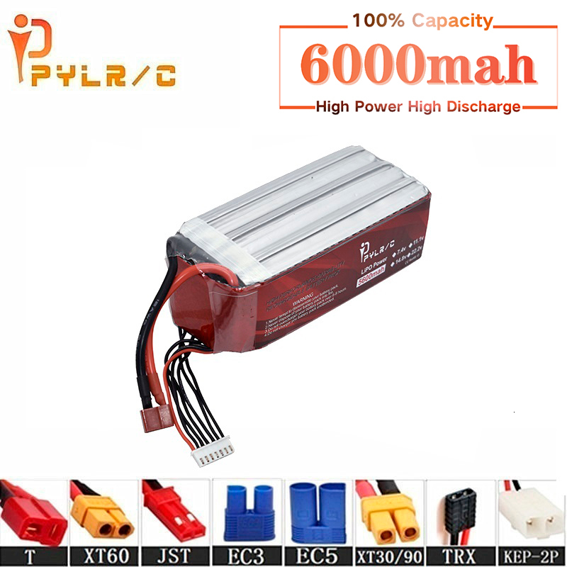 High Rate 22.2v <font><b>6000mAh</b></font> <font><b>Lipo</b></font> Battery For RC Helicopter Parts <font><b>6s</b></font> Lithium battery 22.2v 50C RC Cars Airplanes Drone Battery T/XT60 image