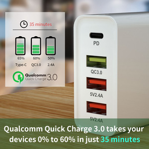 Image 4 - USB C PD Charger Quick Charge 3.0 60W ประเภท C QC3.0 QC Wall Fast Charger สำหรับ iPhone 11 Pro Xiaomi MacBook Pro