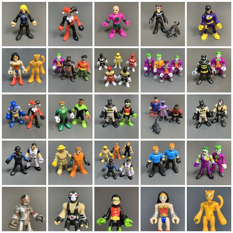 Экшн-фигурки супергероев DC Imaginext, 2,8 дюйма, Робин Джокер и Бэйн, летучая мышь, киборг рейнджер, кукла, фигурки из фильма, игрушки, подарок для д...