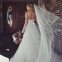 New Bridal Veil, Wedding Veil with comb, Cathedral Ivory Veil Blusher Two Tier Veil with 2 inch Horsehair Trim, 108 inches
