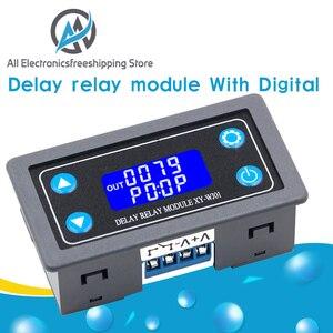 Цифровой релейный модуль с задержкой времени DC12V, программируемый таймер, переключатель управления, цикл запуска времени с чехол для помеще...