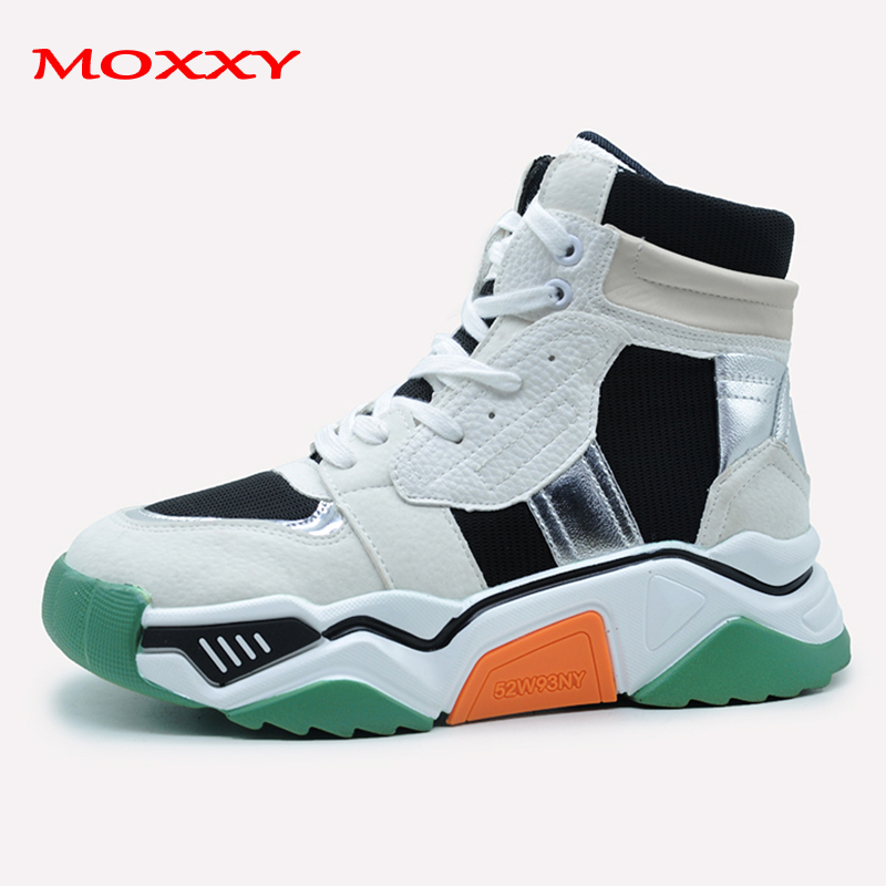 2019 New High Top Sneakers White Boots Designer Chunky Sneakers Basket Femme Sneakers Women Black Green Sport Shoes Woman