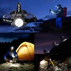 Image 5 - ไฟหน้าแบบLED Super Bright LEDโคมไฟตกปลาไฟหน้า3โหมดใช้สำหรับผจญภัยตั้งแคมป์ล่าสัตว์ฯลฯ18650