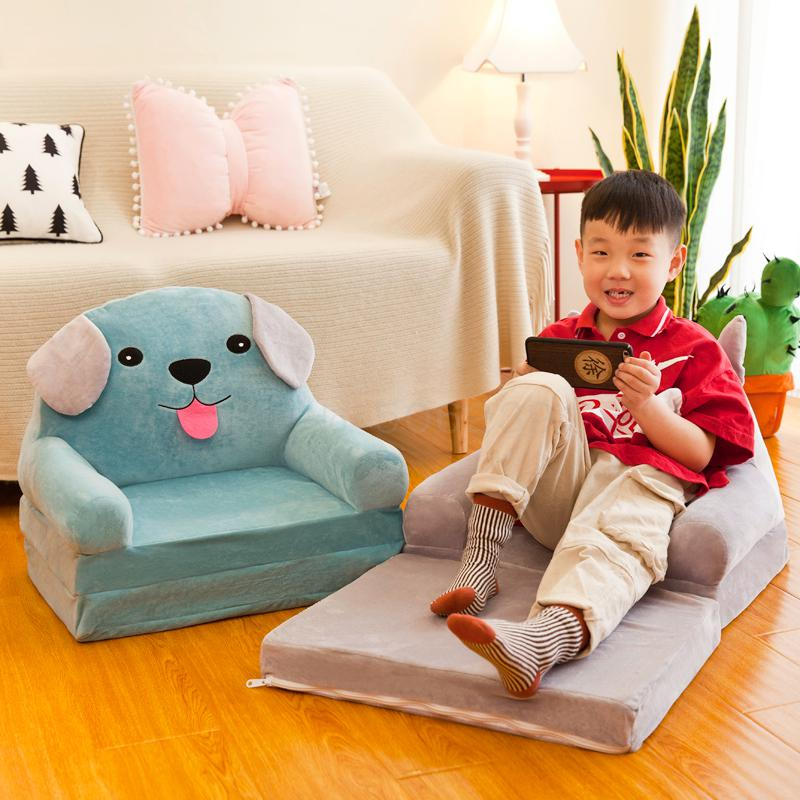 Children Folding Sofa Cartoon Cute Boys