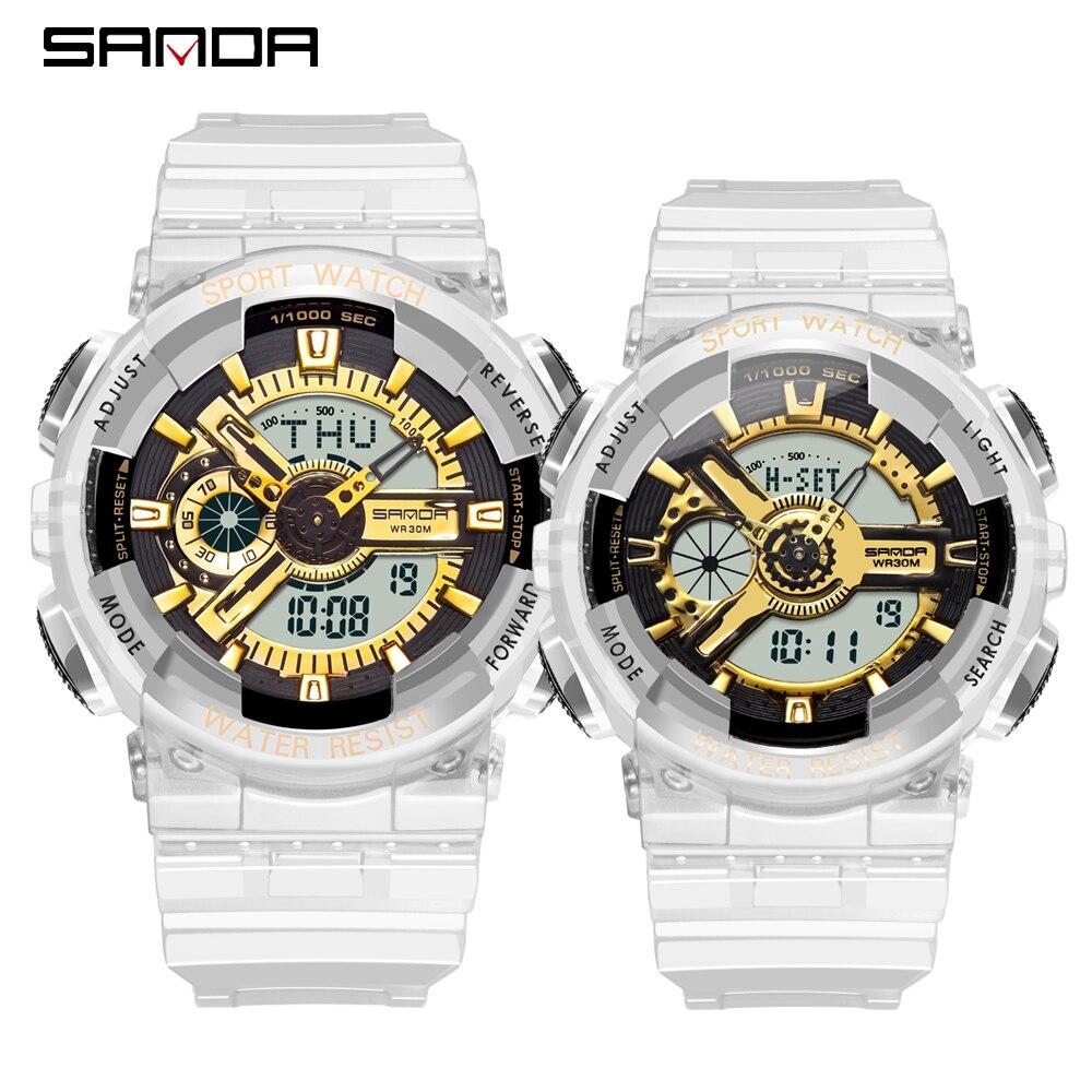 G Style Shock Military Couple Watch Men's Digital Watch Outdoor Multi-function Waterproof Sports Ms Lovers Watch Relojes Hombre