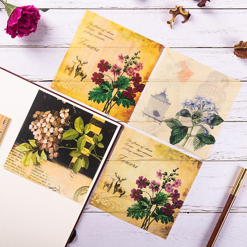 8pcs/Set Vintage Faith Bird Letters Vellum Paper Pattern Pack For Scrapbooking Happy Planner Card Making Junk Journal Project