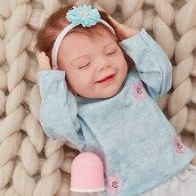 20 zoll 51CM Silcone Rebron Puppe Haar April Tuch Körper Herz Schlafengehen Mädchen Bebe Spielzeug Manuelle Simulation Für Kinder