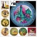 Новый стиль рождественский подарок 5d Алмазная мозаика распродажа часов вино 5d алмазная вышивка и часы Рождественский подарок для дома Накл...