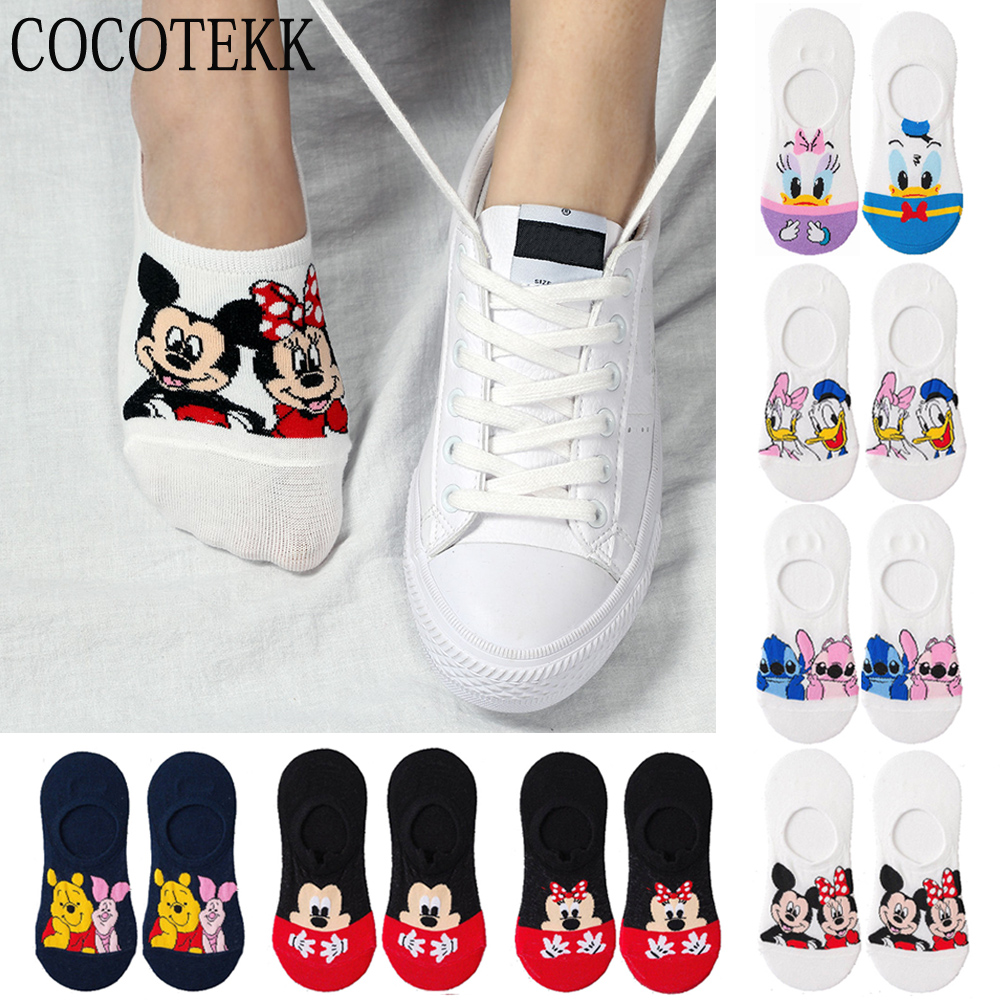 Women Socks 2019 Korea Summer Cute Animal Cartoon Bear Mouse Ankle Sox Thin Cute Invisible Silicone Slip Boat Socks Dropshipping