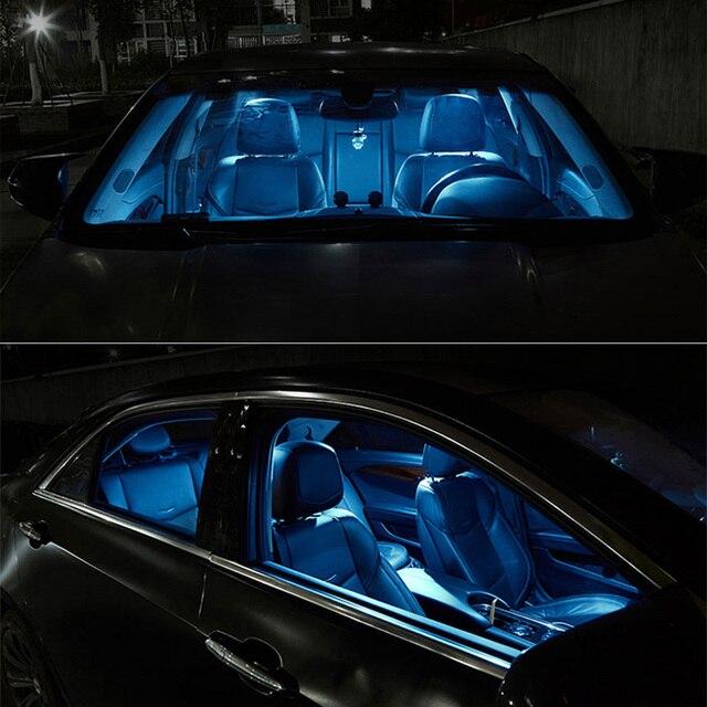 TPKE 9 Piece Xenon White 5050 SMD LED Interior Kit For 2015-2017 Chrysler 200  Trunk Map Dome License Plate Light 4
