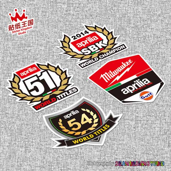 For Aprilia Racing RS4 RS125 RS250 Tuono Caponord RSV4 Moto Helmet Motorcycle Sticker Motor Bike Decal Waterproof 20