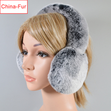 Earmuffs Warm Winter Women Girl Real Soft Fur Rabbit-Fur Hot-Sale Windproof Ear-Caps