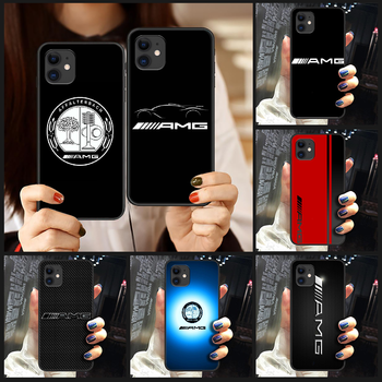 Car Luxury Benz AMG Mercedes logo Phone Case Cover Hull For iphone 5 5s se 2 6 6s 7 8 12 mini plus X XS XR 11 PRO MAX black image