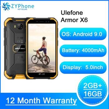 Купить IP68 Водонепроницаемый прочный смартфон 2 Гб оперативной памяти, 16 Гб встроенной памяти, Android 9,0 4000 мАч Face ID 8MP мобильного телефона на открытом в...