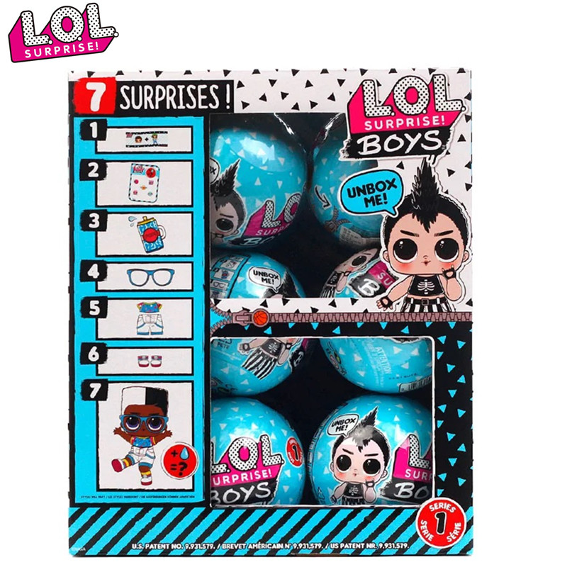 LOL Surprise Doll Demolition Ball Boyfriend Series Blind Box Assembled Doll Boy Girl Toy Interchangeable Clothes Accessories