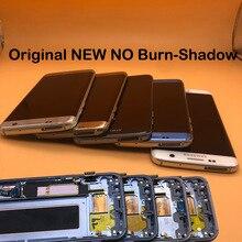 Nowy oryginalny nie wypalić cień AMOLED wyświetlacz do Samsung Galaxy S7 krawędzi G935 G935F G935FD LCD z ramką Digitizer ekran dotykowy