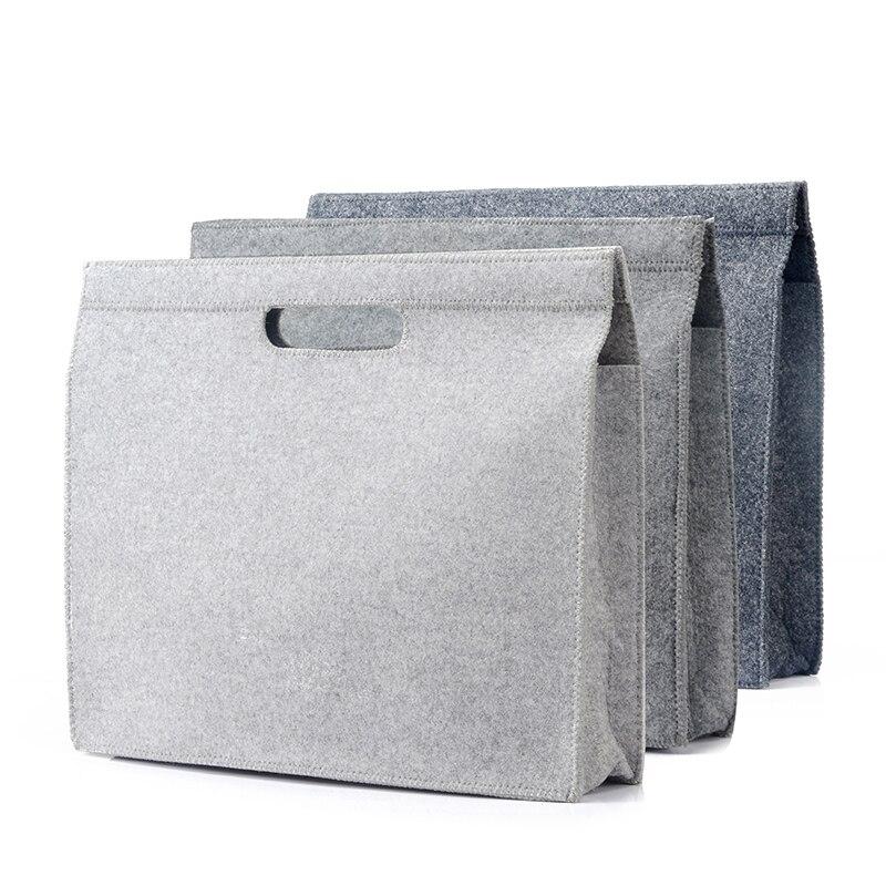 Apple Notebook 12/13/15 Inch Computer Bag Briefcase Trip File Laptop Bag High Quality Minimalist Felt Briefcases Office Handbags