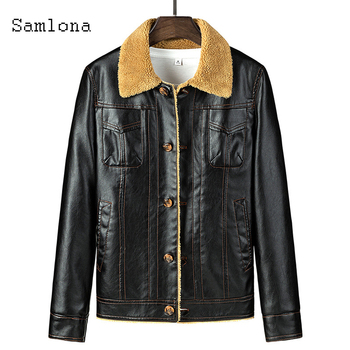 Mens Pu Leather Jackets Autumn Motorcycle Jacket Single Breasted Outerwear Winter Faux Leather Coats Plus Velvet Men Clothing men s leather jackets large size 2020 autumn winter jackets coats single breasted fleece liner warm motorcycle biker jackets
