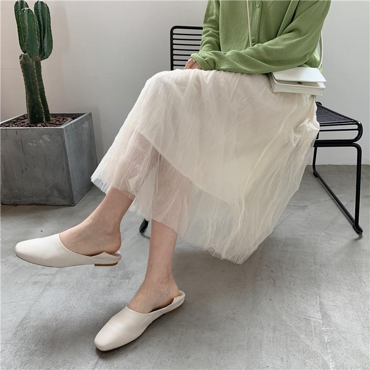Girl'S Bursting! Sweet By Age Mesh Dress Spring And Summer Gentle Gauze Mid-length Skirt Fairy Skirt
