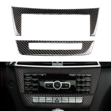 2x Carbon Faser Auto Konsole CD Panel Trim Für Mercedes-Benz C Klasse W204 2010 2011 2012 2013
