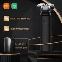 Xiaomi Mijia-maquinilla de afeitar eléctrica para hombres, afeitadora de barba, recargable, cabezal 3D de doble hoja, máquina de afeitar en seco y mojado, lavable