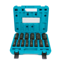 Japan Makita Electric Car Repair Tool Accessories 1/2 Electric Pneumatic Impact Wrench Extended Length Hex Nut 14PCS Socket Set