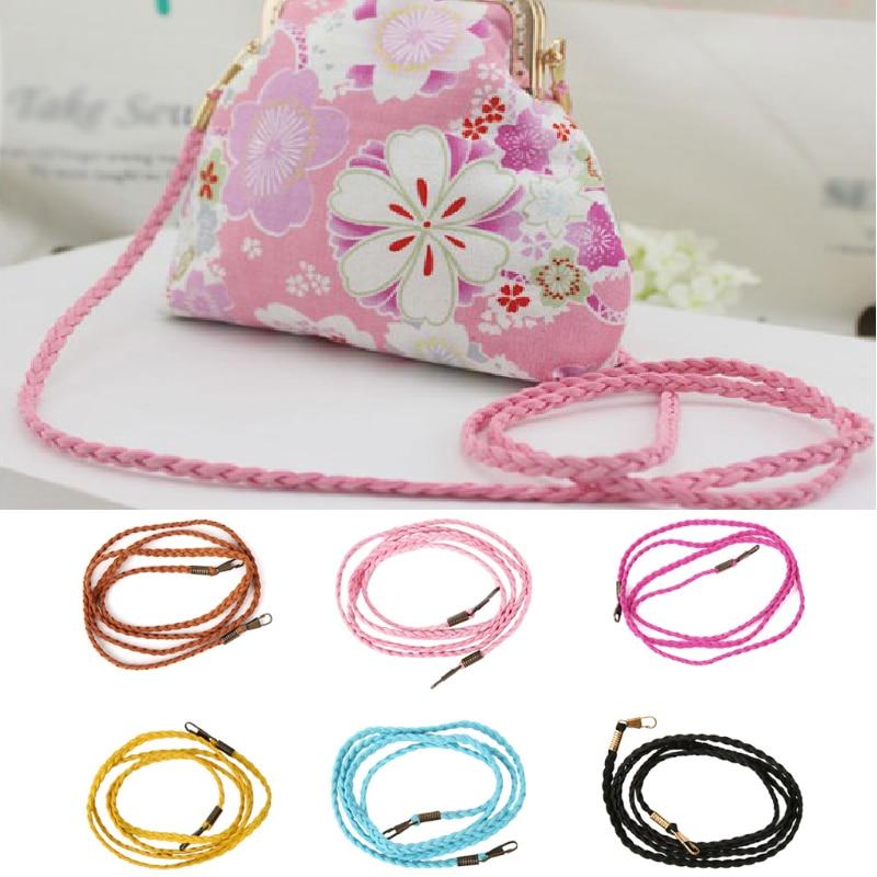 Candy Color Woven Bag Chain Strap Replacement For Purse Handbag Shoulder Bag Strap Handle Multicolor Velvet Rope Bag Accessories