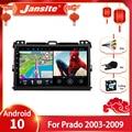 Автомобильный радиоприемник Jansite Android 10,0 для Toyota LAND CRUISER Prado 120 2004-2009, мультимедийный видеоплеер, 2 din, головное устройство с GPS-навигацией