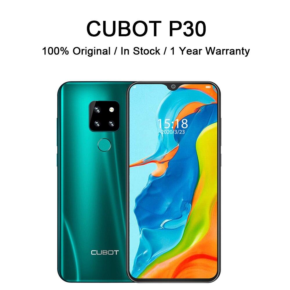 CUBOT P30 Smartphone Helio P23 4GB + 64GB AI Hinten Triple Kameras 4000mAh Smart Handy Fingerprint gesicht ID Android 9,0 Pie