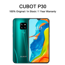 Cubot p30 smartphone helio p23 4gb + 64gb ai câmeras triplas traseiras 4000mah smart mobile fingerprint face id android 9.0 torta