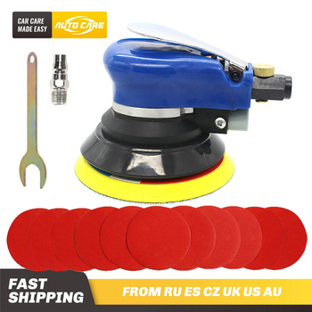 5 Inches 10000RPM Max Pneumatic Air Sander Car Polisher Paint Care Tool Polishing Machine Electric Woodworking Grinder Polisher jrealmer 2 inches pneumatic air polisher sander eccentric polishing machine pneumatic polisher tool