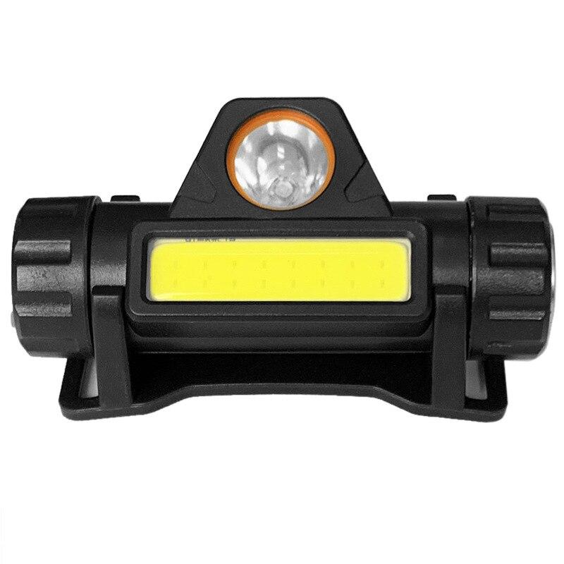 Открытый Кемпинг Портативный Мини светодиодный налобный фонарь зарядка через USB Рыбалка фары фонарик Фонарь налобный фонарь Водонепроница...