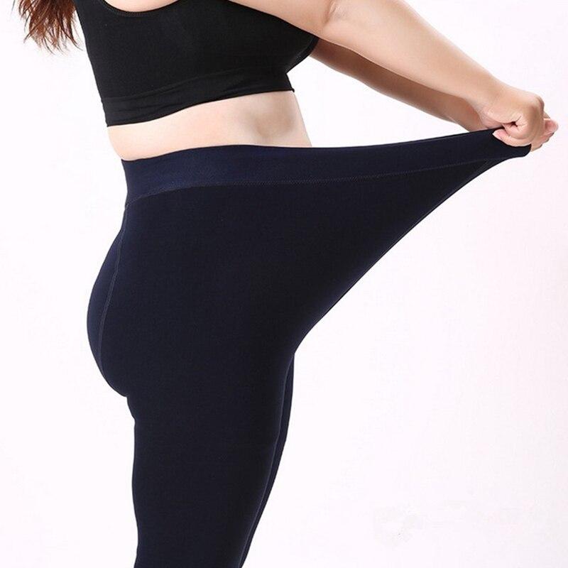 NORMOV Women Winter Slim Warm Leggins Knitter Thick Elastic Velvet Trouser High Waist Leggings Fitness Workout