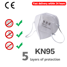 Fast Delivery KN95 Dustproof Anti-fog And Breathable Face Masks N95 Mask 95% Filtration Features As KF94 FFP2