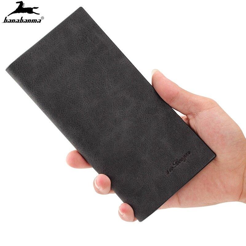 Тонкий мужской кошелек carteira 0,5 см, тонкий мужской кошелек, деловые бумажники из мягкой натуральной кожи
