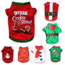Одежда для собак, Рождественский костюм, милая мультяшная одежда для маленьких собак, тканевый костюм, платье, Рождественская одежда для Китти-догов