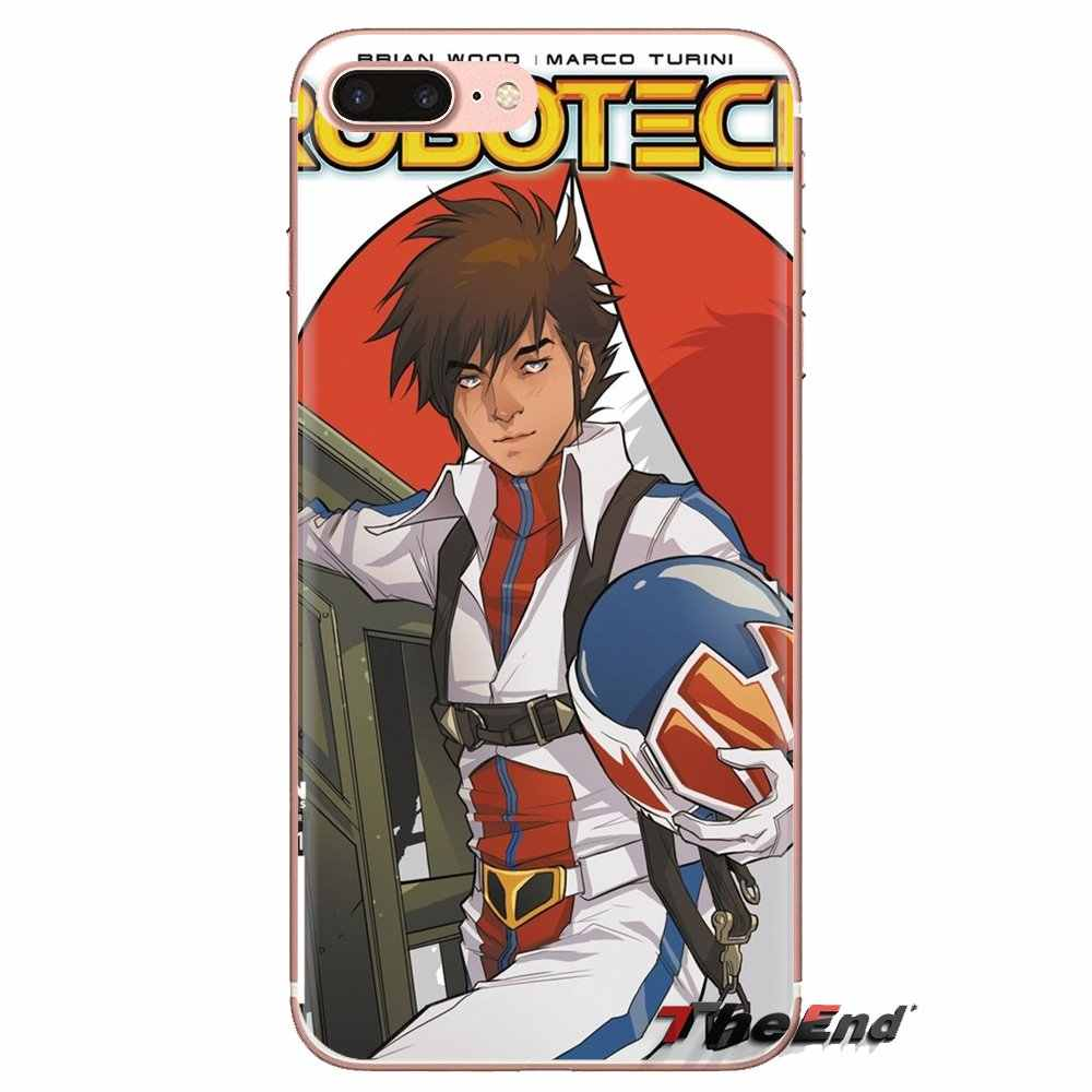 Macross 7 Encore Anime Bao Bọc Điện Thoại Nhà Ở Cho Samsung Galaxy S2 S3 S4 S5 MINI S6 S7 Edge S8 S9 plus Note 2 3 4 5 8 Coque Fundas