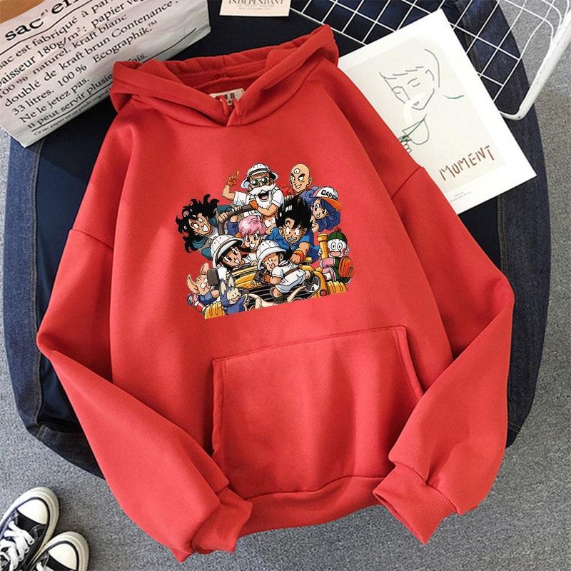 Japanese Anime Printed Hoodies 2021 Spring Autumn Long Sleeve Hoodie Women Cartoon Graphic Streetwear Sweatshirts Female Tops 23