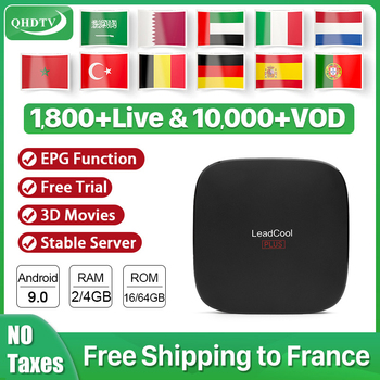 IPTV Arabic Netherlands Germany Leadcool Plus RK3318 Android 9.0 IPTV Box 4K UHD H.265 Spain IPTV Belgium Europe 1 year QHDTV