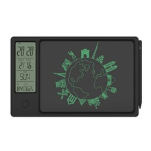 NEWYES Drawing Pad 9.5 Inch Temperature Humidity Display Electronic Calendar LCD Writing Tablet Doodle Board Type-c charging