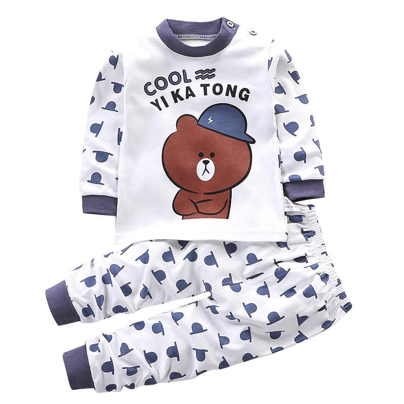 2019 Infant Newborn Baby Boy Clothes cotton Long Sleeve baby clothes set 0-2year winter Cartoon baby boys suit