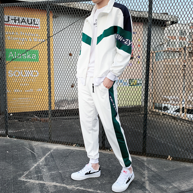 Spring Tracksuit For Men Trend Twinset Lovers Two Piece Set Jacket And Pant Ropa Deportiva Hombre Moda Survetement Homme 2 Piece