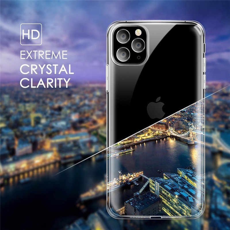 Funda transparente para iPhone 11Pro X XS XR Max con agujeros Capa transpirable para iPhone 7 8 6 6s Plus